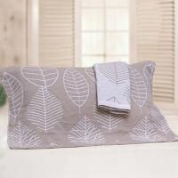 ???纯棉枕巾一对装纯棉全棉枕巾素雅情侣枕头盖巾52*75厘米