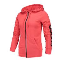 #超品日满200减60#Adidas阿迪达斯 女子运动连帽休闲外套 B47313