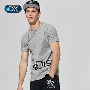 Discovery2018户外春夏男短袖T恤印花排汗棉质DAJG81113