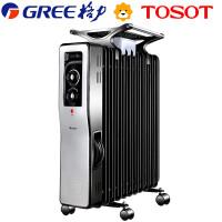 格力大松(TOSOT) NDY04-21 电热油汀取暖器家用节能电暖器 送干衣 加湿盒 三挡功率 过热保护安全设计