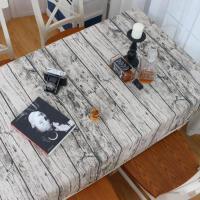 电脑桌简约桌布文艺书桌台布好看餐桌布防油规格仿古布布木纹