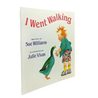 英文原版 I Went Walking 我去散步 [平装] [2-6岁]