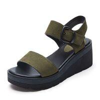 Belle/百丽夏季专柜同款牛剖层皮革女皮凉鞋R5H1DBL7