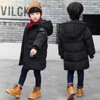 童装男童棉衣中长款2017新款加厚儿童棉袄外套中大童冬装