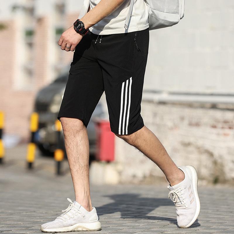 运动跑步短裤男健身速干休闲五分裤夏天薄款训练裤6分宽松中裤潮QR199