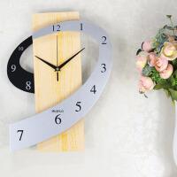 挂钟客厅卧室田园艺术静音挂表 创意钟表个性时钟 图片色 16英寸