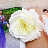 大号玫瑰花头仿真花 欧式森系婚礼花墙装饰假花配花