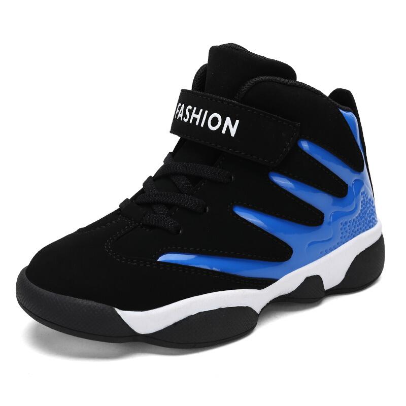 男童鞋子2018新款秋冬季10中大童运动鞋男孩12儿童篮球鞋15岁二棉
