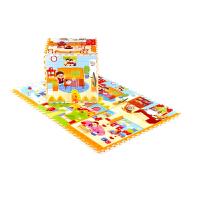 蔓葆 开心农场乐扣垫 加厚2cm泡沫垫宝宝儿童拼图 婴儿爬行垫环保地垫精灵玩具