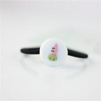 学生日韩卡通发圈发绳手工捏制陶瓷可爱涂鸦韩式头绳简约皮筋发饰品