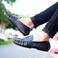 维普森 2017新款一脚蹬懒人驾车鞋男士休闲皮鞋压花男士豆豆鞋CZ-8699