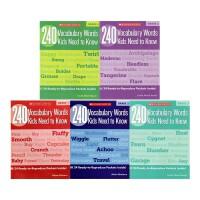 【6册】美国小学英语需要掌握的240个单词 240 Vocabulary Words Kids Need to Know Grade 1-6  学乐小学生词汇 240词练习册 英文原版
