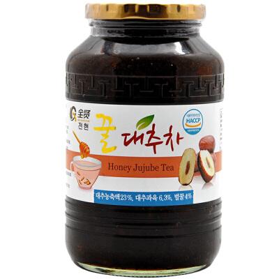全贤 蜂蜜大枣茶1kg 韩国原装进口红枣酱冲饮蜜炼茶果肉饮料