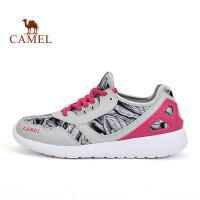 骆驼运动鞋 女款休闲入门跑鞋 轻便透气时尚防滑运动鞋女士跑步鞋