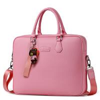 笔记本电脑包女手提时尚韩版14寸 可爱 15.6英寸单肩