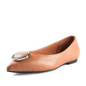 Belle/百丽2018春新品专柜同款羊皮革女皮鞋S3S1DAQ8