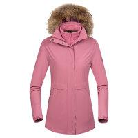 诺诗兰冲锋衣女三合一可拆卸加绒加厚冬季毛领GS082622
