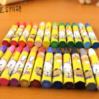 油画棒36色儿童美术绘画蜡笔无毒不脏画笔宝宝手彩色绘画彩笔
