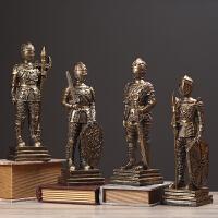 创意家居酒柜隔断玄关装饰品欧式复古罗马勇士兵摆件模型橱窗道具