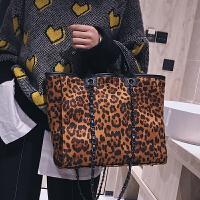 秋冬豹纹单肩大包包女2018新款潮韩版百搭斜挎包大容量时尚手提包
