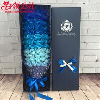 白领公社 创意礼品 33朵51朵玫瑰香皂花束礼盒创意情人节七夕圣诞元旦双十一礼品送女友送朋友  生日礼物