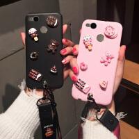 红米4高配/标准手机壳红米1s/2a/3x/3s/4x/4a可爱甜点小熊腕带女款