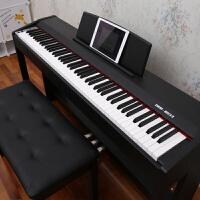 电子琴88键重锤初学app家用电子钢琴儿童智能电钢琴 +双人琴凳
