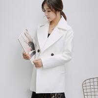 秋冬新款韩国双面毛呢外套女中长款女士呢子学生加厚修身大衣