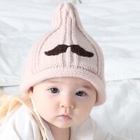 宝宝帽子婴儿套头毛线帽新生儿帽子胎帽秋冬60 均码47-50CM(3-24个月)