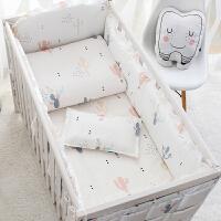 定制婴儿床上用品纯棉宝宝床围床单被套件夏季新生儿床围帏防撞