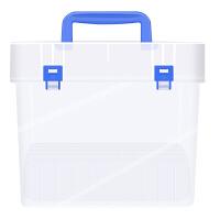 Touch Cool马克笔盒子便携式大容量文具盒收纳盒多功能塑料盒环保防水设计24/36/48/60/80/120笔盒桌
