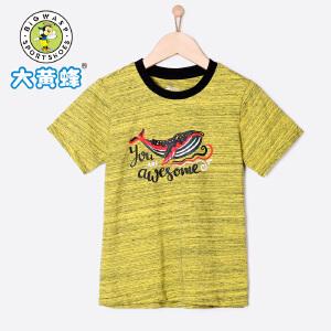 大黄蜂童装 男童T恤 短袖 2018新款夏季儿童小孩韩版宽松圆领潮