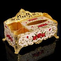 欧式复古金属时尚纸巾盒客餐厅家居收纳手工艺品KTV抽纸盒多功能