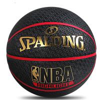 正品斯伯丁NBA篮球 室外水泥地耐磨lanqiu防滑橡胶7号黑l篮球