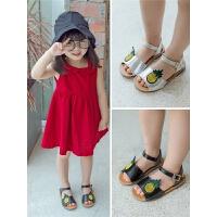 新款儿童凉鞋女童时尚露趾公主鞋学生轻便软底鞋子
