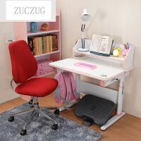 ZUCZUG升降学习桌 可倾斜书桌 写字桌套装 电脑桌学习桌 蓝色椅子+