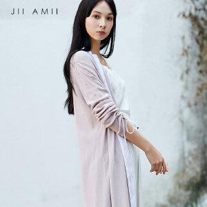 [AMII东方极简] JII东方极简 2018春装新款毛针织开衫复古原宿中长款外套女
