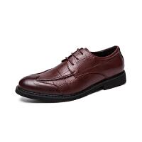 秋季透气男鞋韩版英伦黑色潮鞋子休闲商务正装皮鞋男士尖头内增高