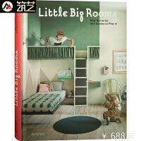 Little Big Rooms 英文版 欧美儿童生活与学习空间儿童房间托儿所室内设计书籍