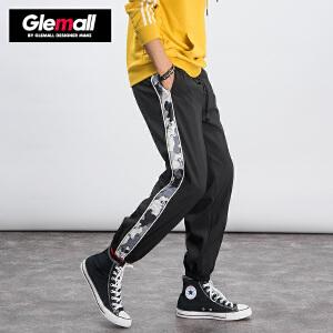 森马潮牌GLEMALL 运动休闲裤宽松束脚裤街头加绒加厚迷彩学生