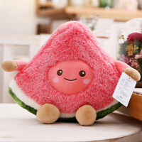 创意水果毛绒玩具西瓜樱桃公仔可爱布娃娃仿真卡通抱枕女生日礼物