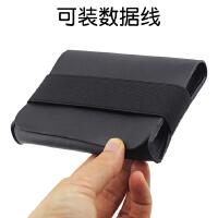 联想保护套 小黑1T 2T移动硬盘 F309整理收纳包 保护袋 皮套 黑色 松紧带收纳包