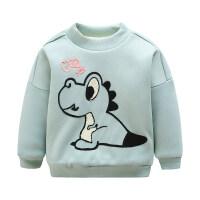男童卫衣加绒洋气宝宝加厚外套女童冬装潮款儿童冬季上衣