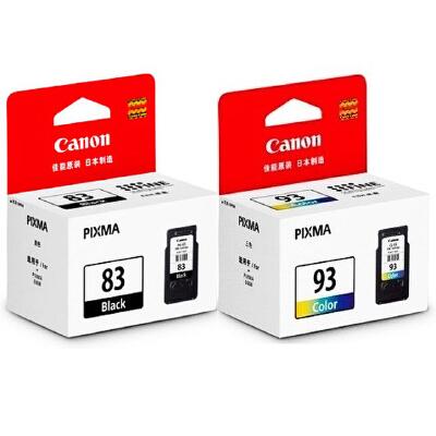 佳能原装 PG-83黑色墨盒 CL-93彩色墨盒 佳能 腾彩PIXMA E608 E618 E518打印机墨盒 满99包邮!原装正品!黑彩可选!