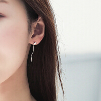 欧丁 韩国简约个性s925银女耳环星星耳线长款耳坠流苏耳饰时尚日韩气质TY