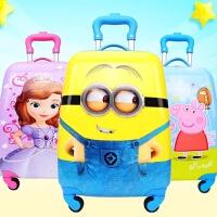 18寸万向轮方形蛋形多种卡通图案男女儿童拉杆旅行小孩行李登机箱