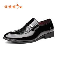 红蜻蜓男鞋真皮英伦商务皮鞋男士透气韩版休闲鞋子男单鞋