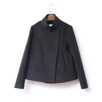 毛呢外套女2018秋装新款短款呢子大衣小个子黑色短外套秋冬季加厚