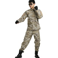 装备户外作训野战作战服迷彩套装野外特训服 作战服户外军装军迷服饰耐磨军训服工装服 网格沙漠