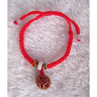 红绳镂空桃核生肖龙儿童手链宝宝防惊吓风水桃木缘 图片色